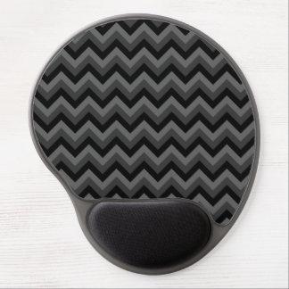 Modelo de zigzag negro y gris alfombrilla con gel