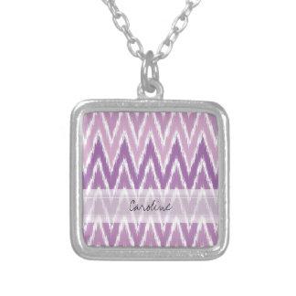 Modelo de zigzag púrpura de Ombre Ikat Chevron del Colgantes Personalizados