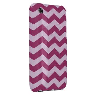 Modelo de zigzag púrpura del cardo funda para iPhone 3 de Case-Mate