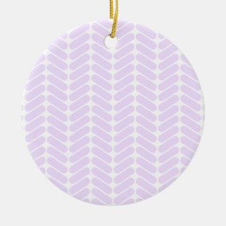 Modelo de zigzag púrpura en colores pastel adornos de navidad