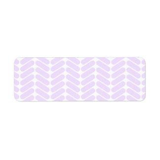 Modelo de zigzag púrpura en colores pastel etiquetas de remite