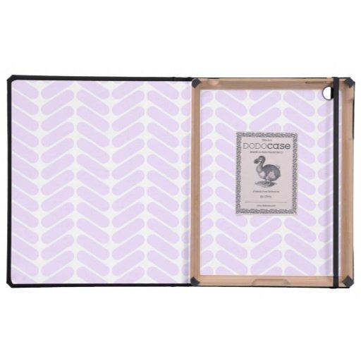 Modelo de zigzag púrpura en colores pastel inspira iPad fundas