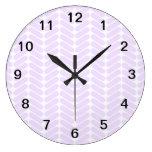 Modelo de zigzag púrpura en colores pastel inspira relojes