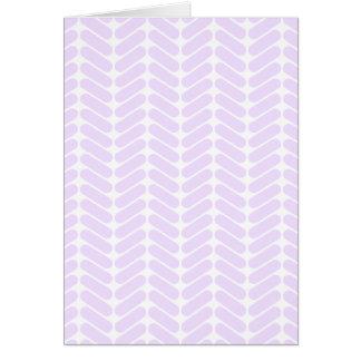 Modelo de zigzag púrpura en colores pastel inspira tarjeta de felicitación