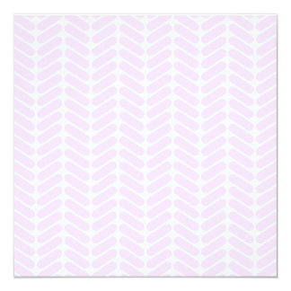 """Modelo de zigzag púrpura en colores pastel invitación 5.25"""" x 5.25"""""""