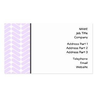 Modelo de zigzag púrpura en colores pastel tarjetas de visita