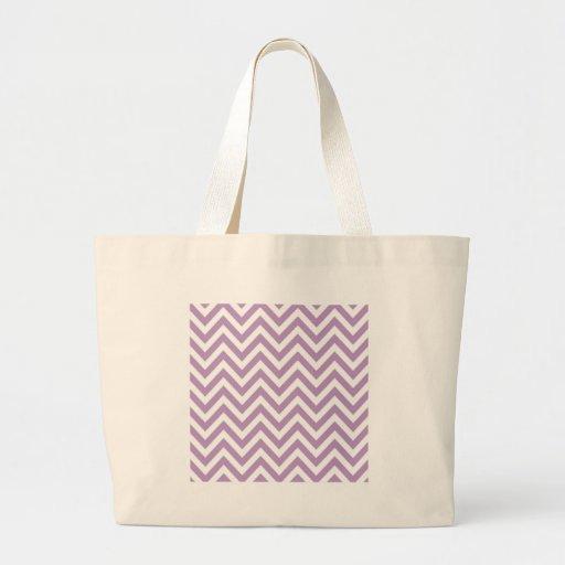 Modelo de zigzag purpúreo claro y blanco bolsas de mano