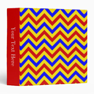 "Modelo de zigzag rojo, amarillo, azul de LG Carpeta 1 1/2"""