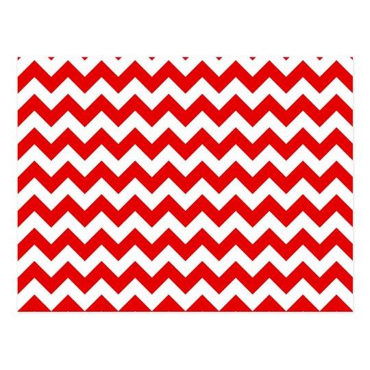 Modelo de zigzag rojo brillante de Chevron Postal