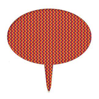 Modelo de zigzag rojo y amarillo figura de tarta