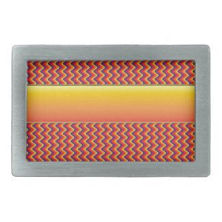 Modelo de zigzag rojo y amarillo hebilla de cinturón
