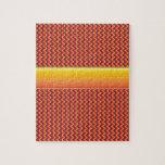 Modelo de zigzag rojo y amarillo puzzle