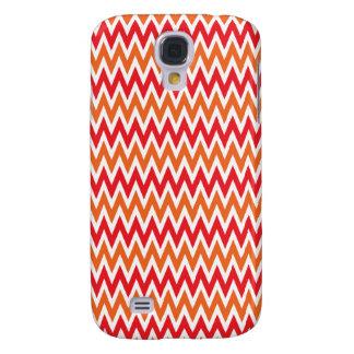 Modelo de zigzag rojo y anaranjado colorido de Che Funda Para Galaxy S4