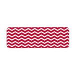 Modelo de zigzag rojo y blanco intrépido de Chevro Etiquetas De Remite