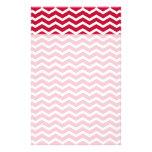Modelo de zigzag rojo y blanco intrépido de Chevro Papeleria De Diseño