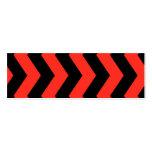 Modelo de zigzag rojo y negro plantilla de tarjeta de visita