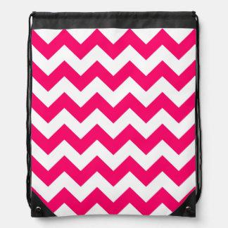 Modelo de zigzag rosado brillante mochilas