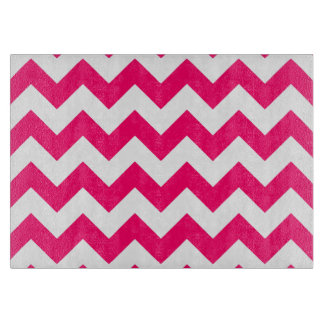 Modelo de zigzag rosado brillante tablas de cortar