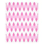 Modelo de zigzag rosado con formas del diamante tarjetas publicitarias