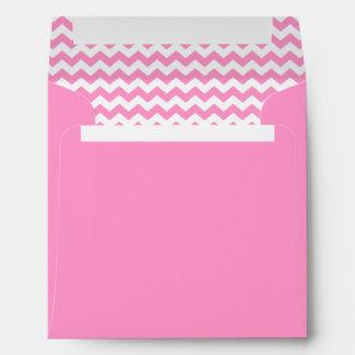 Modelo de zigzag rosado del galón elegante