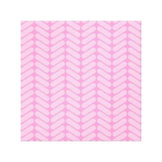 Modelo de zigzag rosado inspirado haciendo punto impresiones en lona