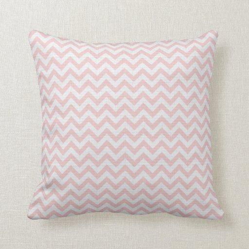 Modelo de zigzag rosado suave cojín