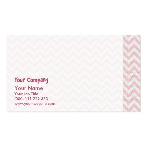 Modelo de zigzag rosado suave plantilla de tarjeta de negocio