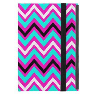 Modelo de zigzag rosado y azul iPad mini cárcasa