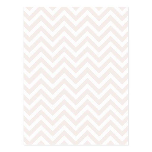Modelo de zigzag rosado y blanco postal