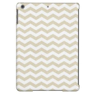 Modelo de zigzag texturizado zigzag de color topo  funda para iPad air