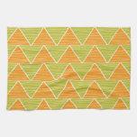 Modelo de zigzag verde anaranjado moderno del triá toallas