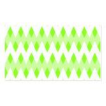 Modelo de zigzag verde con formas del diamante plantillas de tarjeta de negocio