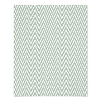 Modelo de zigzag verde en colores pastel folleto 11,4 x 14,2 cm