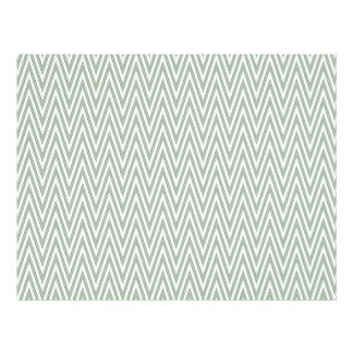 Modelo de zigzag verde en colores pastel folleto 21,6 x 28 cm