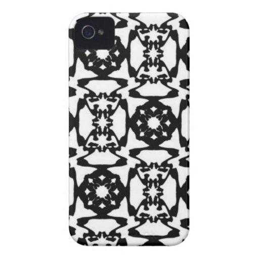 Modelo decorativo blanco y negro Case-Mate iPhone 4 cárcasas