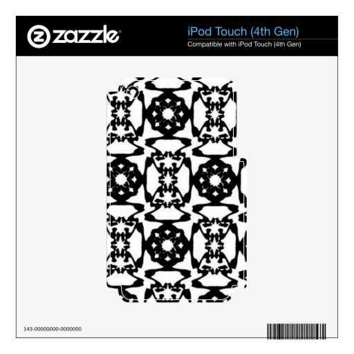 Modelo decorativo blanco y negro iPod touch 4G skin