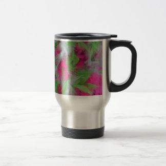 Modelo decorativo colorido de las plumas taza de café