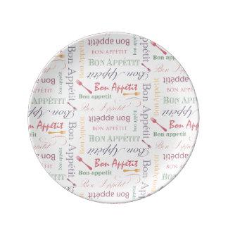 Modelo decorativo de Appetit del Bon Platos De Cerámica
