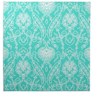 Modelo decorativo de la turquesa de lujo y del servilletas de papel