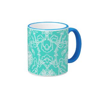 Modelo decorativo de la turquesa de lujo y del taza a dos colores