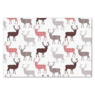 Modelo decorativo de los ciervos/del reno del papel de seda pequeño