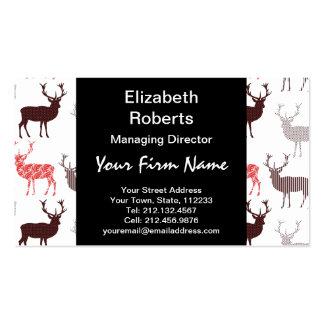 Modelo decorativo de los ciervos/del reno del tarjetas de visita