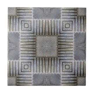 Modelo decorativo de los cuadrados de la plata met teja cerámica