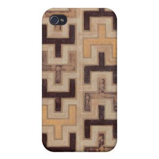 Modelo decorativo de Mudcloth del africano iPhone 4/4S Carcasa