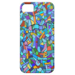 Modelo decorativo del mosaico azul iPhone 5 Case-Mate protector