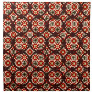Modelo decorativo del vínculo abstracto del servilleta imprimida