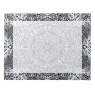 Modelo decorativo elegante bloc de papel