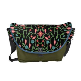 Modelo decorativo floral bolsas de mensajería