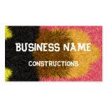 Modelo decorativo multicolor tarjetas de negocios