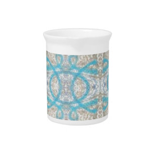 Modelo decorativo rizado de la pared de la pintada jarras